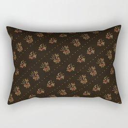 Sparrow tattoo pattern, rockabilly, vintage sailor tattoos, 50s, retro pattern Rectangular Pillow