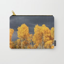 Golden Aspens and an Impending Storm Carry-All Pouch