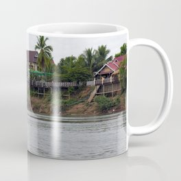 Colonial Houses on the Mekong River, Laos Coffee Mug