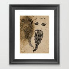 The Bearded Lady Olga  Framed Art Print