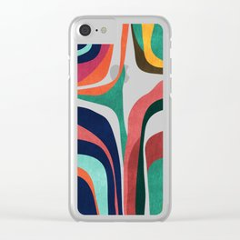 Impossible contour map Clear iPhone Case