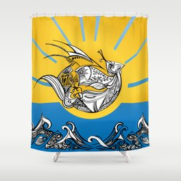 Phoenix Over The Sea Shower Curtain