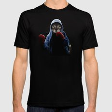 Boxing Cool Cat Mens Fitted Tee MEDIUM Black