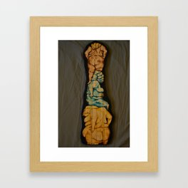 Rise Up With Fists Framed Art Print