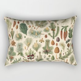 Vintage Pinecones Designs Collection Rectangular Pillow