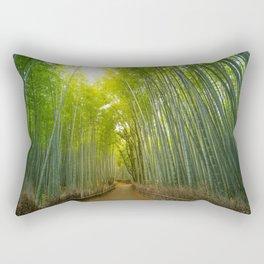 Bamboo forest at Sagano Rectangular Pillow