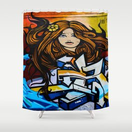 Graffiti Queen  Shower Curtain