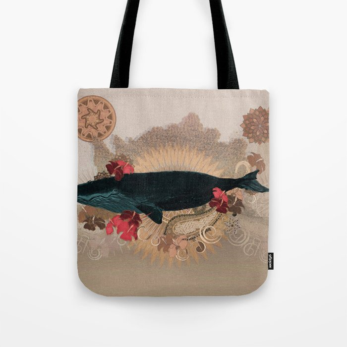 The Flying Whale Tote Bag