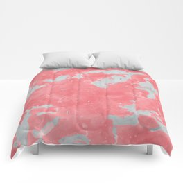 pink marble pattern Comforters