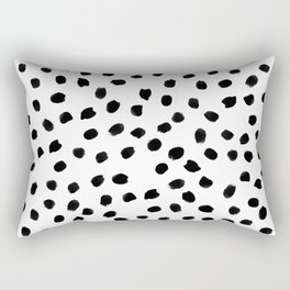 Black daps on white Rectangular Pillow