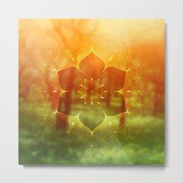 hidden refuge    flower of life Metal Print