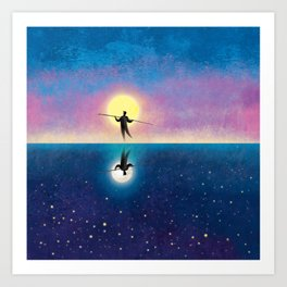 The Tightrope Walker 2 Art Print