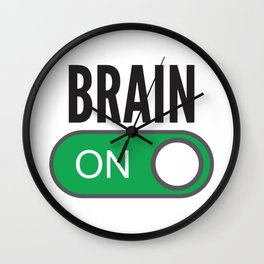 Brain On Wall Clock