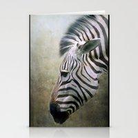 zebra Stationery Cards featuring Zebra by Pauline Fowler ( Polly470 )