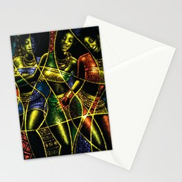 African Dancing Girls Stationery Cards