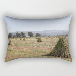 Sesame Crop and Harvest Rectangular Pillow