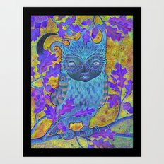 Oak & Owl Art Print