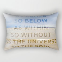 As the Universe, So the Soul Rectangular Pillow