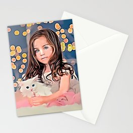 Mary and her kitten! Stationery Cards