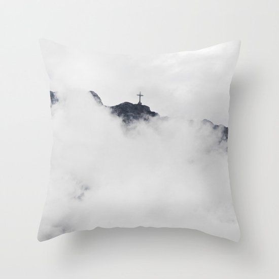 Foggy Faith Throw Pillow