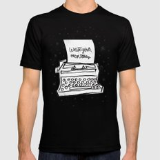 Write your own story. X-LARGE Black Mens Fitted Tee