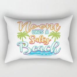 Funny Summer Sun Beach Holiday Vacation Drink Gift Rectangular Pillow