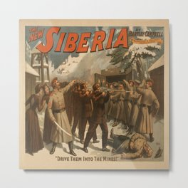 Vintage poster - The New Siberia Metal Print