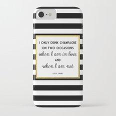 Coco Gold Champagne in love quote iPhone 7 Slim Case