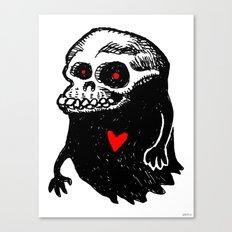 Freddy, the loving Skullghost Canvas Print