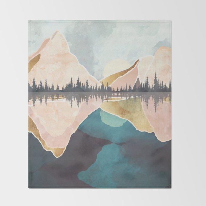 Summer Reflection Throw Blanket