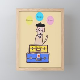 Happy Travels Framed Mini Art Print