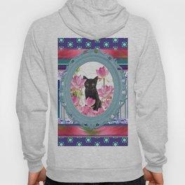 Frame Black Cat pattern Hoody