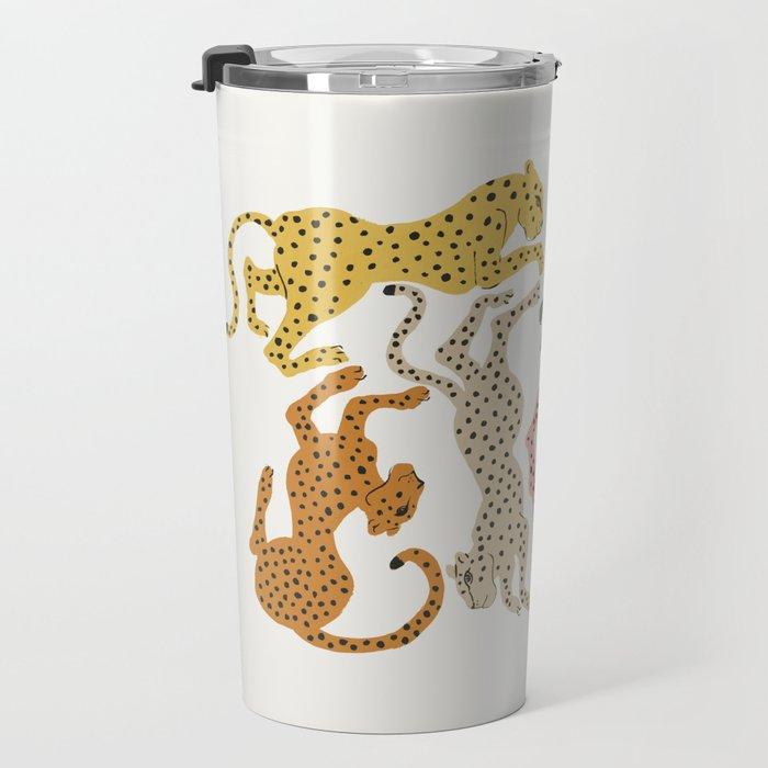 Rainbow Cheetah Travel Mug