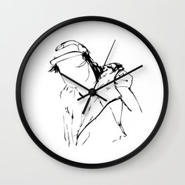 Skater Boy in a notebook Wall Clock