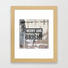 Snowfall - merry and bright Framed Art Print