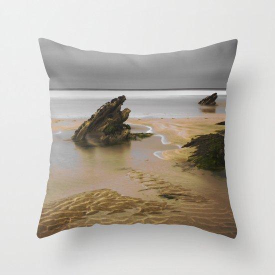 Fistral Beach, Newquay, Cornwall, England United Kingdom Throw Pillow