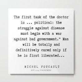 23      Michel Foucault Quotes   200119 Metal Print