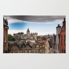 View of Edinburgh architecture from Victoria Street Rug