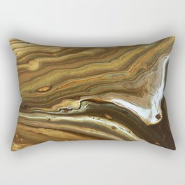 Swashes of gold and fire Rectangular Pillow