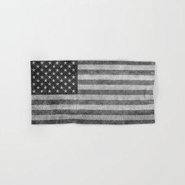 USA flag - Grayscale high quality image Hand & Bath Towel