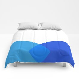 Abstract Blue Comforters