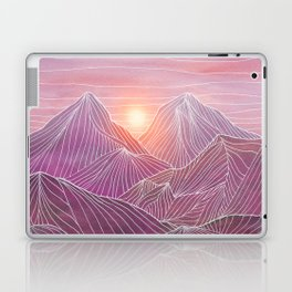 Lines in the mountains 02 Laptop & iPad Skin