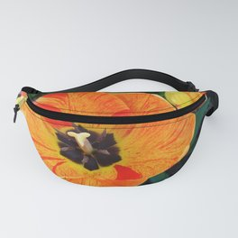 orange and yellow tulips Fanny Pack