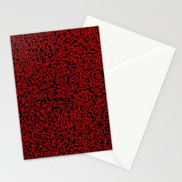 thought 2, red on black Stationery Cards