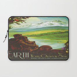 Earth Retro Space Poster Laptop Sleeve