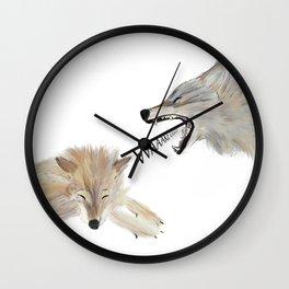 European wolf Wall Clock