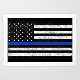 Thin Blue Line Art Print
