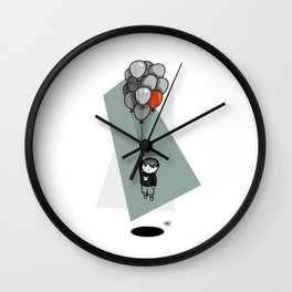 Dark balloon Wall Clock