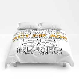 Funny Birthday Gift 55 Years Sixty Born in 1963 Comforters