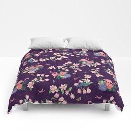 Flamingos and Magnolia Blossom Comforters